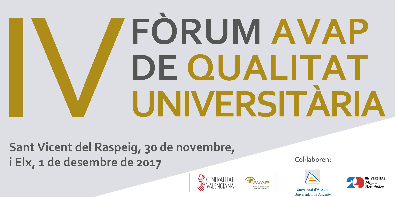 Cartell-IV-Forum-AVAP-Qualitat-Universitaria